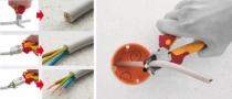 Pince à dénuder : Pince coupante diagonale TriCut Professional electric isolée 1000 volts