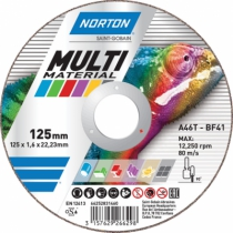 DISQUE NORTON PURPOSE 125X1,0X22,23