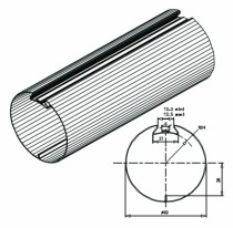 Motorisation fenêtre et volet : Tube galva 6/10e