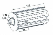 Motorisation fenêtre et volet : Embout escamotable ø 64 mm - ZF