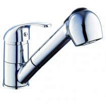 Robinetterie sanitaire domestique : Mitigeur d'évier à douchette extractible - modèle Pola