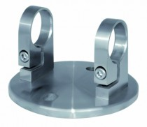 Main courante et garde-corps inox 316 : Platine de fixation pour supports main courante