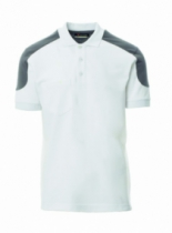 POLO BICOLORE MC BLANC FUMEE     S
