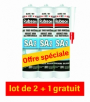 Joint : Lot silicone sanitaire SA2 blanc