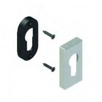 Béquille double pour menuiserie alu\pvc : Rosace rectangle cylindre