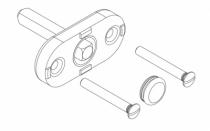 Ferrure Giesse aluminium pour gorge européenne : Mécanisme carré de 7 mm