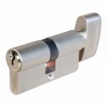 Cylindre européen de sûreté : Cylindre à bouton - nickelé