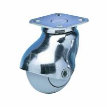 Roulette d'ameublement : Roulette Tono chromée - à platine 42 x 42 mm