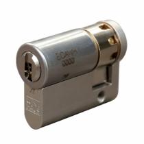 Cylindre européen de sûreté : Demi-cylindre - nickelé