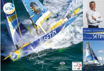 POSTER VOILE IMOCA PUBLICITAIRE