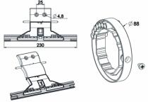 Accessoire de volet roulant : Attache tablier anti-effraction + bague verrou