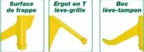 Outil de maçon : Leve plaque d'egout toucan