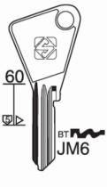 Cylindre européen 5 goupilles : Ébauche de clé JPM