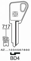 Cylindre européen 5 goupilles : Ébauche de clé Bricard