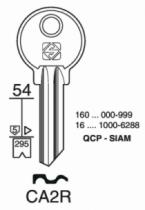 Cylindre européen 5 goupilles : Ébauche de clé Zénith