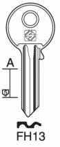Cylindre européen 5 goupilles : Ébauche de clé FTH