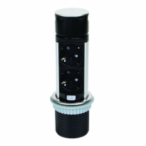 Enrouleur - prolongateur : Bloc 1 prise + 1 usb ovale - inox