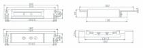 Verrouillage : Ventouse électromagnétique à cisaillement 12/24 V