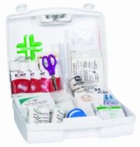 Trousse de secours : Armoire à pharmacie 1 porte  en tôle avec kit 5 à 10 personnes