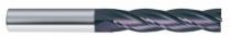 Fraise carbure : Fraise 4 dents carbure queue renforcée cylindrique revetûe TIALN