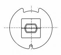 Motorisation fenêtre et volet : Adaptateur axe 50 mm pour type 9