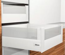 Kit tiroir double paroi Blum - intivo - TIP-ON : Kit intivo TIP-ON BOXCOVER hauteur D : 224 mm - blanc