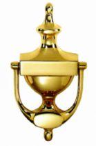 Bouton et marteau de porte laiton : Heurtoir porte-nom 195 x 95 mm