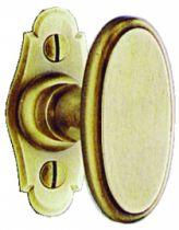 Garniture laiton patiné : Bouton de fenêtre 70 x 35 mm