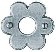 Garniture acier : Rosace ø 40 mm