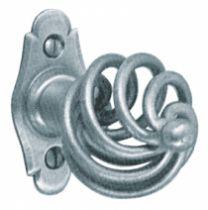 Garniture acier : Bouton sur platine - 70 x 35 mm