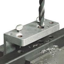 Serrure pour portail coulissant : Calibre de perforation