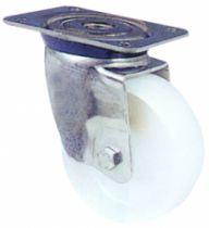 Roulette de manutention : Roue blanche - Mécaninox