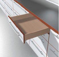 Coulisse invisible pour tiroir bois : Sortie partielle TANDEM 550H - charge dynamique 30 kg