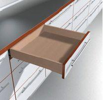 Coulisse invisible pour tiroir bois : Sortie totale TANDEM 560H - charge 30 kg dynamique