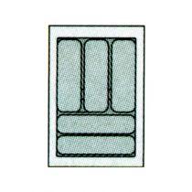 Accessoire pour tiroir antaro\intivo : Plastique gris recoupable de 441 à 520 mm