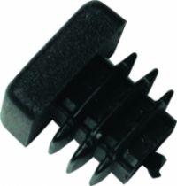 Embout de tube carré rentrant : Plastique noir