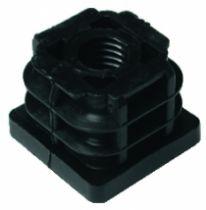 Embout de tube carré rentrant : Plastique taraudé M10