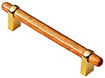 Garniture classique : A pattes - bois vernis et embases métalliques