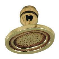 Garniture de style : Bouton ovale laiton poli verni
