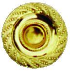 Garniture de style : Bouton ciselé laiton poli verni