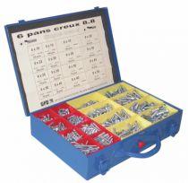 Vis métaux : Coffret - acier zingué - DIN 912 - classe de résistance 8-8