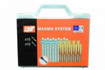 Scellement par injection : Coffret MAXIMA - 10 tiges + 10 ampoules