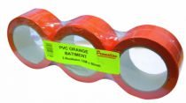Ruban adhésif : Vynile plastifié - orange - 96406