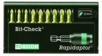 """Composition d'embouts : Embouts de vissage Bit-Checks® + porte-embout Rapidaptor 1/4"""""""