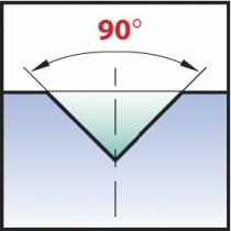 Foret à pointer : Angle 90° - acier HSSE