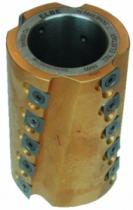 Outil de toupie : Calibreur à coupe biaise alternée