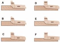 Outil de toupie : Plate-bande multi-profils à plaquettes jetables