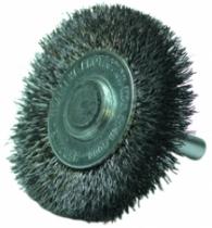 Brosse circulaire sur tige ø 6 mm fil d'acier 0,35 mm