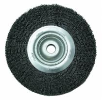Brosse circulaire alésage ø 12 mm fil d'acier 0,35 mm