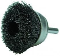 Brosse coupe sur tige ø 6 mm fil d'acier 0,35 mm
